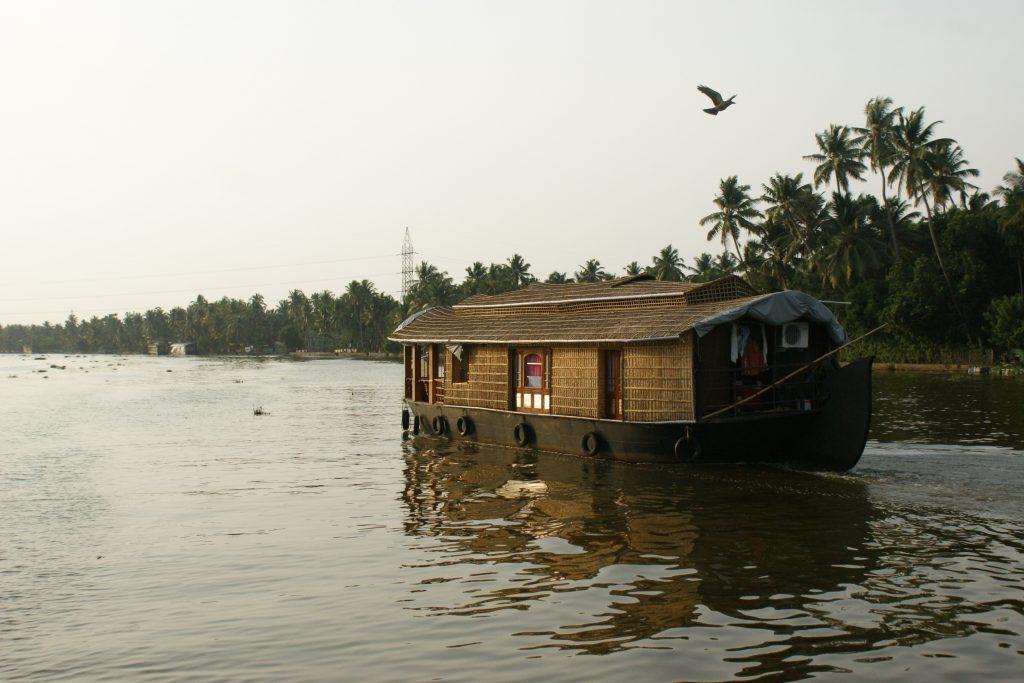 Boating in backwaters of Kerela
