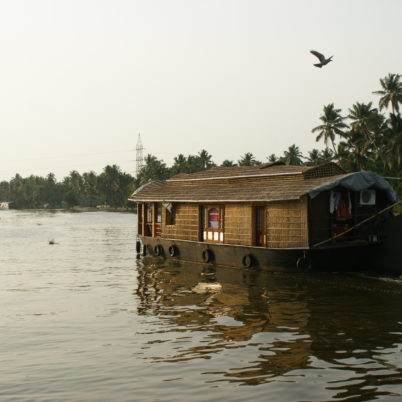 Boating in backwaters of Kerela
