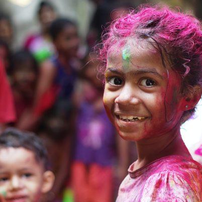 Beautiful smiling children of India