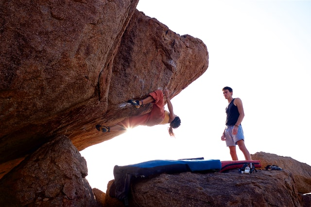 Rock climbing in Hampi, Mountain sports in south India