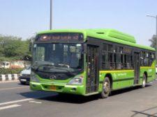 delhi bus, delhi green bus