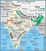 wandern in indien, karte