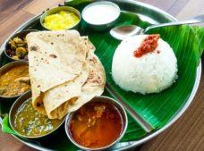 South Indian thali at Mango Tree