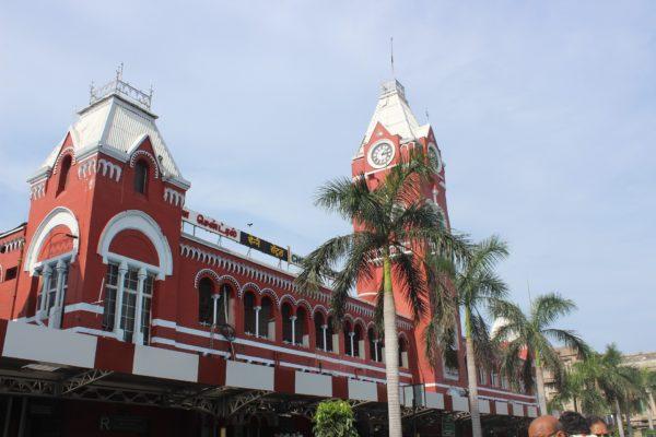 Rail routes across South India