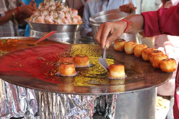 Street food vendors in Mumbai,
