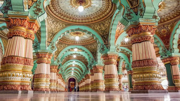 Mysore Palace, Two weeks in South India
