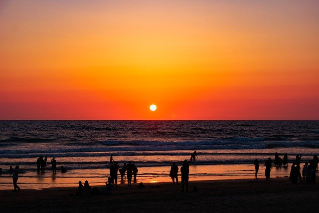 Sunset at Goa beach, things to do in India