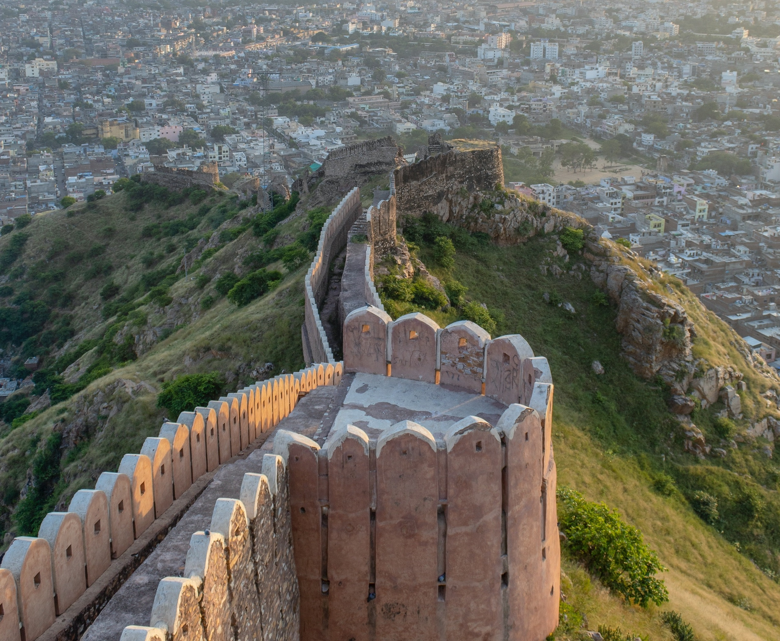 View from Nahargarh fort Jaipur