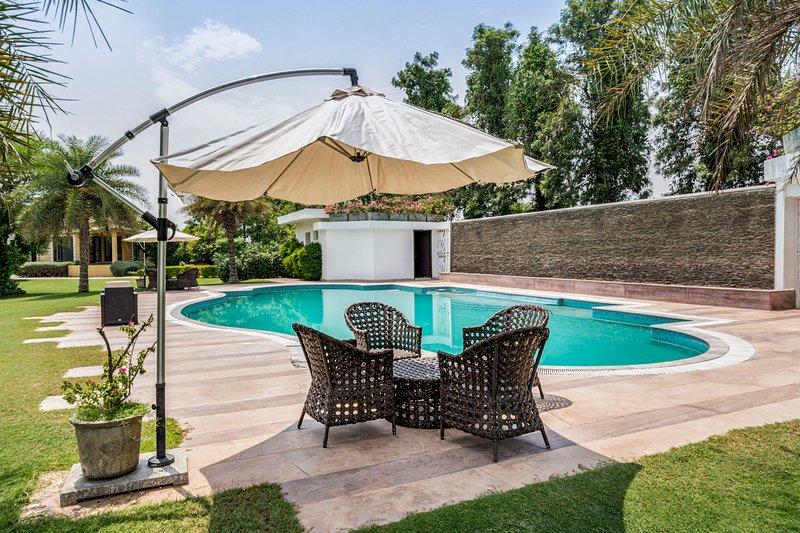 Pool beside the villa