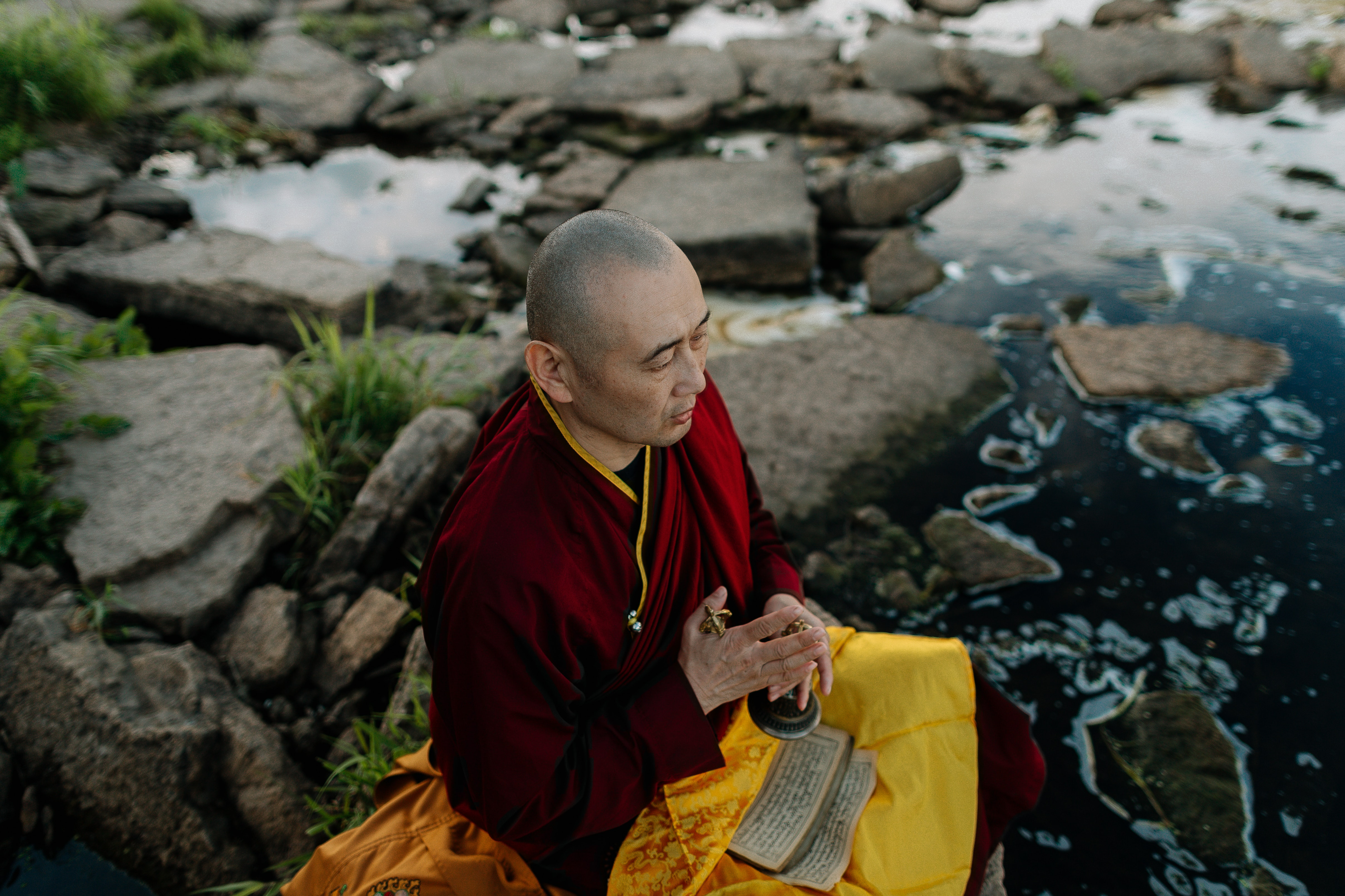 Monks in India