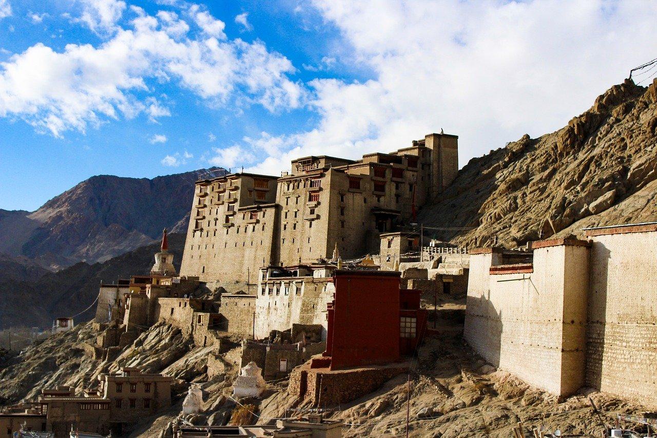 The royal Leh Palce in Ladakh