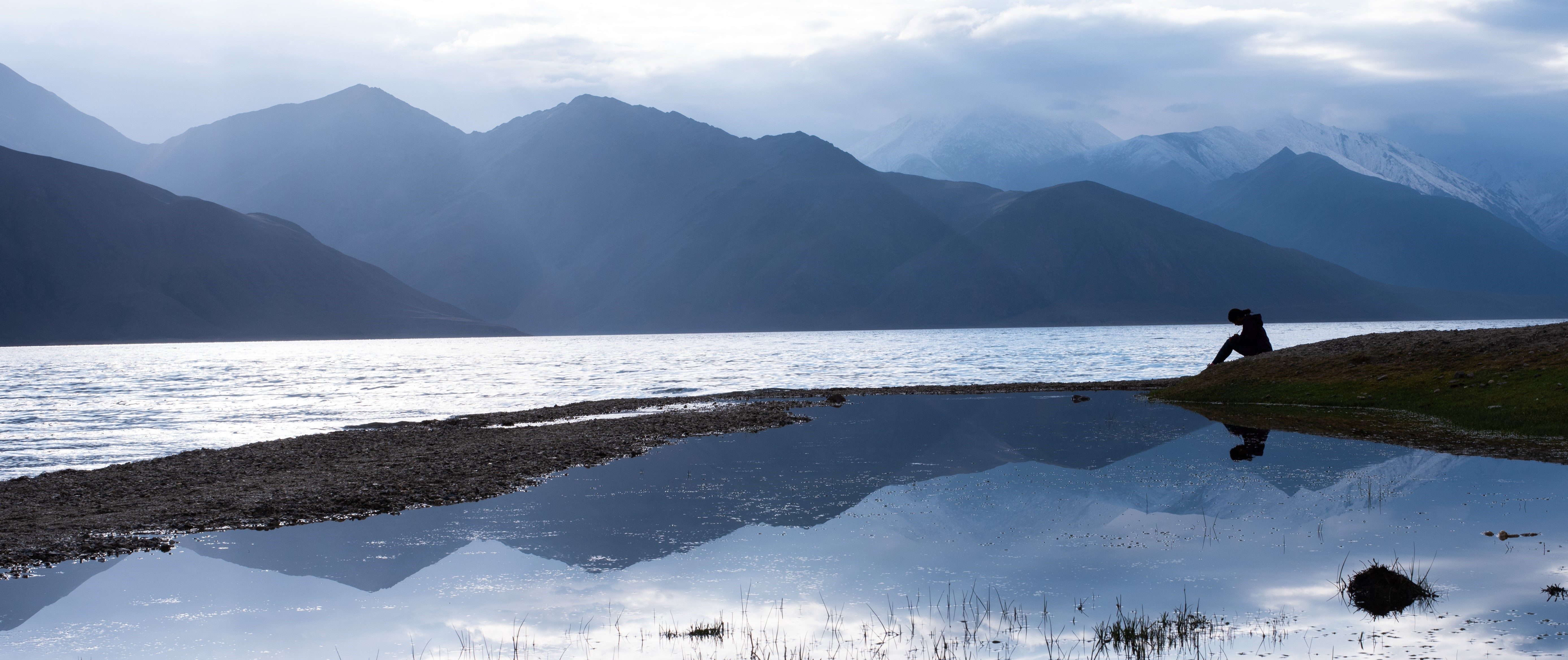 Lake Pangong Tso, Ladakh, in june