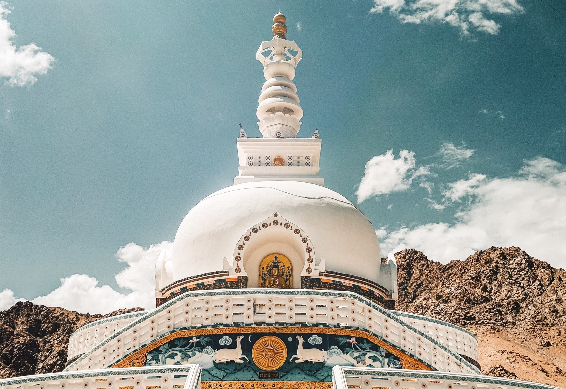 Travelling to Ladakh, Shanti stupa